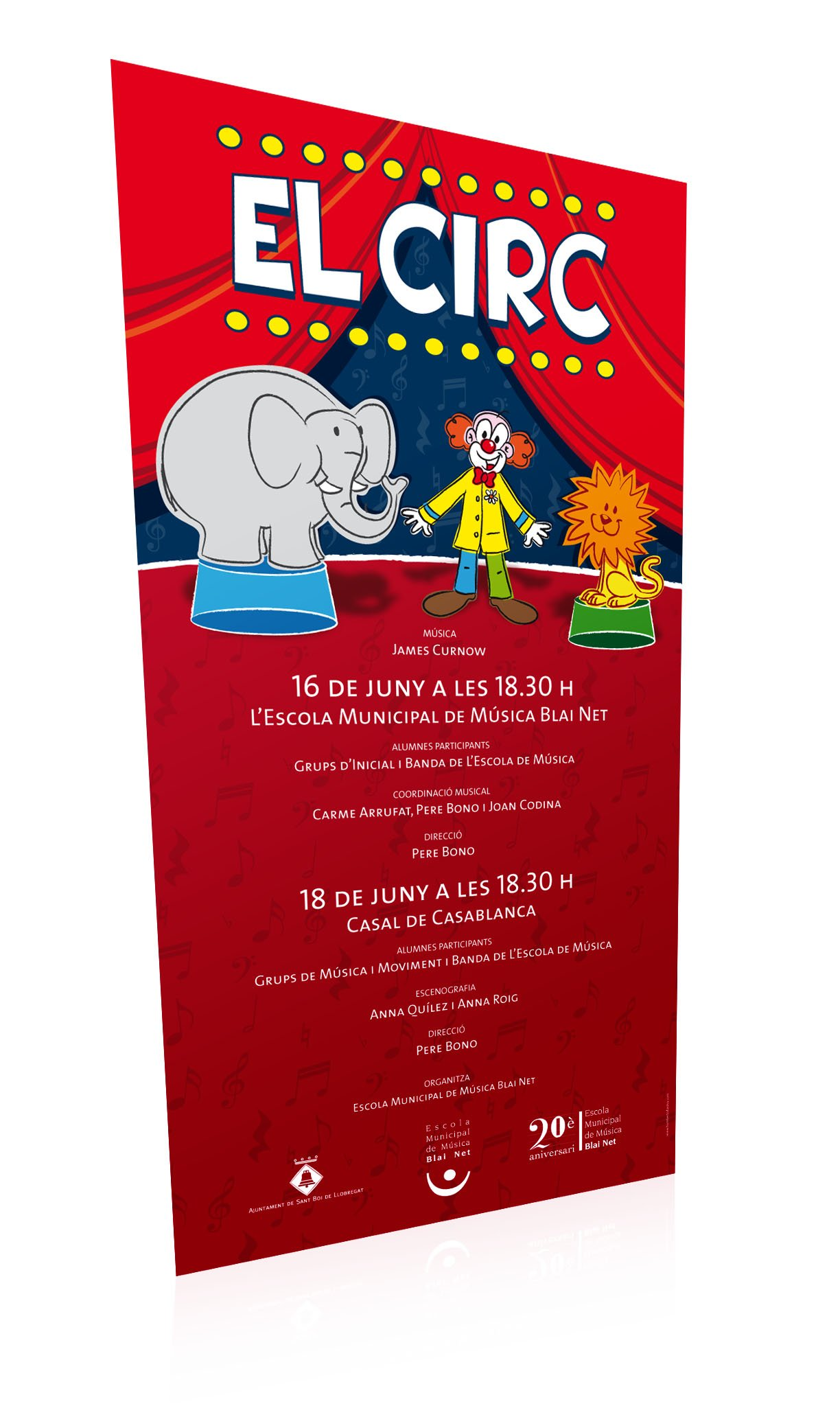 Ilustración carteles música circo