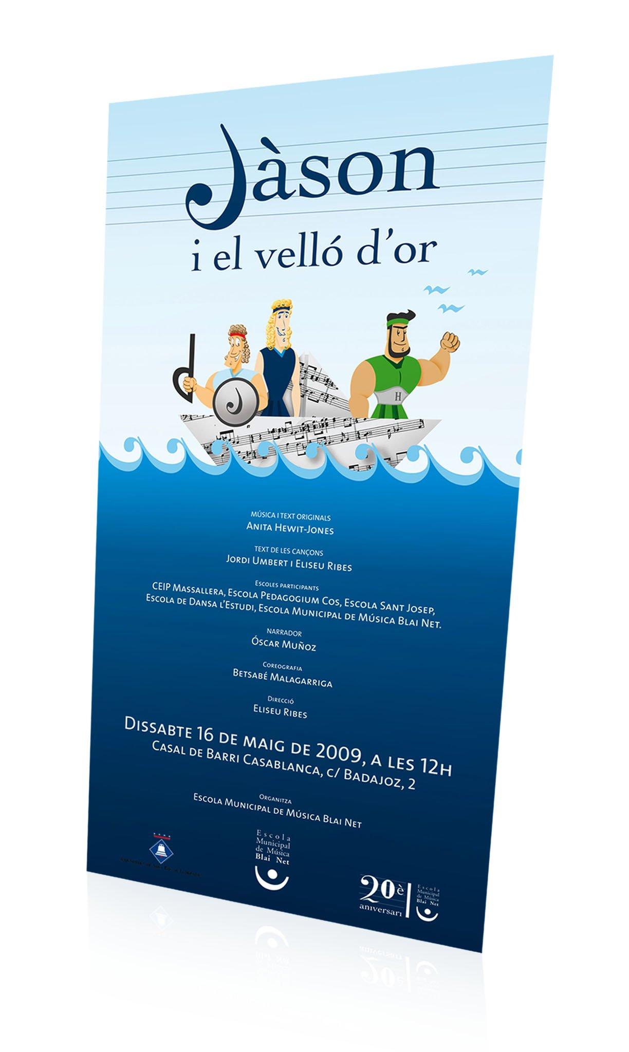 Ilustración carteles música jason